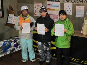 オープンクラス男子入賞者 優勝「名人」國井理裕さん